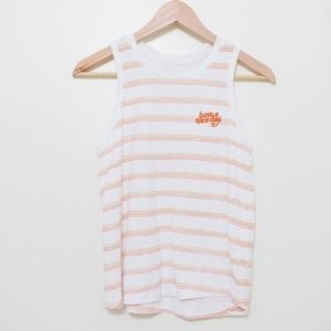 """Cotton On """"have a nice day"""" striped swing tank top"""